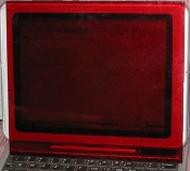 Optically Clear RED acrylic Screen Cover - Small